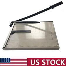 """18"""" Metal Base Paper Cutter Trimmer Scrap Booking Desktop Sheet A3 Guillotine"""