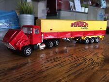 Majorette Renault PINDER CAR DELUXE CIRCUS Trailer Truck Model Yellow Red 1/60