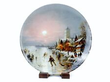 "1987 Collector Plate ""Ice Skaters In The Evening Sun"", Ludwig Muninger, #Plt16"