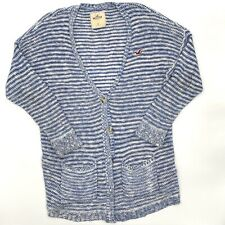 Hollister Womens Knit Cardigan Size Small Knit Sweater Blue