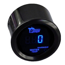 "Mintice ™ 2"" 52mm Motor de Coche Negro Luz Led Azul Digital Led Temperatura Agua"