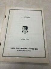 1965 Us Army Avation School Adf Program Book - Fort Rucker Alabama