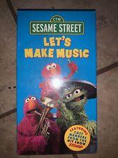 Sesame Street - Lets Make Music (VHS, 2000) Sealed