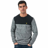 Mens Lyle & Scott Space Dye Sweatshirt In Black- Crafted From A Multicolour Yarn