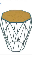 Three Hands Metal Accent / End Table home decor furniture