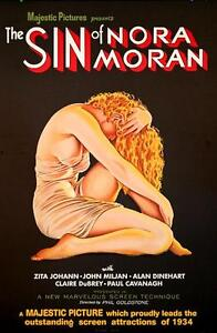 The Sin of Nora Moran Vintage Movie Poster Lithograph Zita Johann S2 Art