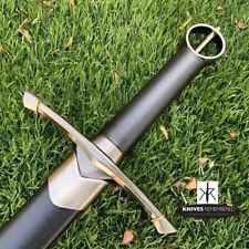 Irish Celtic Medieval Knight Warrior Arming Sword w/ Scabbard - CUSTOM ENGRAVED