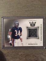 WALTER PAYTON NFL GAME WORN JERSEY CARD CHICAGO BEARS