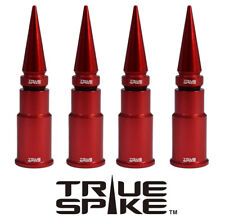 4 TRUE SPIKE RED SPIKED WHEEL RIM AIR VALVE STEM COVER CAP SET FOR JEEP