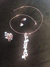 Turquoise Suite Of Jewlery Stunning White Gold, Diamond &