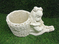 Girl With Basket Planter Latex only Garden Ornament Mould (PLANTER33L)