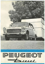 """Peugeot Diesel  Includes """"Record"""" Car  1967"""