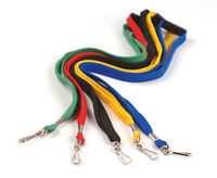 LOT of 100 or 50 NECK Flat LANYARD ID BADGES Strap/Holder Black Blue Red Green