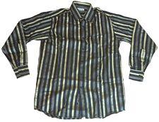 Elegante PIERRE CARDIN Lujo Rayas Camisa M 39/40