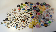Huge Lot Pins Buttons Political Alaska 2 pound Plus Junk Drawer Mixed Pin Lot
