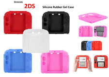 WHITE -Silicone Soft RUBBER BUMPER Gel Skin Case Cover For Nintendo 2DS Game (UK