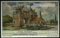 Ancient Oostendsche Gate Brugge  Belgium 60+ Y/O Trade Ad  Card