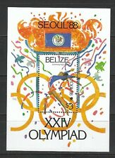 292) Olympiade 1988 in Seoul: Belize Block 96 **! 2 Scans!