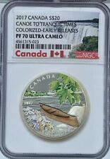 2017 Canada Canoe to Tranquil Times $20 Silver NGC PF70UCAM Early Release
