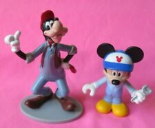 New listing Disney Goofy & Mickey Mouse Mechanic figures toy cake topper Lot