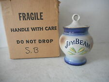 Genuine Regal China 1978 Jim Beam Pottery Sugar Bowl with Lid