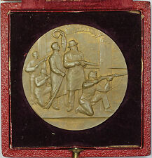 1898 Neuchatel Switzerland Swiss Shooting Medal R970 in Original Case