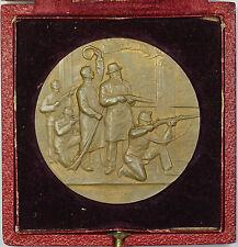 1898 Neuchatel Switzerland Swiss Shooting Medal R970 in Original Case