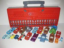 Disney Pixar Cars 2 Grand Prix Launcher Case w/ 20 Plastic Metal Cars Lot