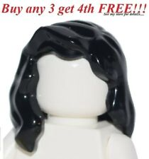 ☀️NEW Lego Minifig Hair Female Girl Black Pirate Long Wavy Over the Shoulders