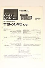 PIONEER TS-X45 Car Stereo Speaker Original Service-Manual/Schaltplan! o66