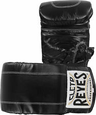 Cleto Reyes Leather Boxing Bag Gloves with Elastic Cuff - Black - Xl