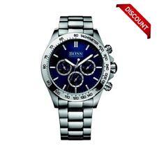 BRANDNEU HUGO BOSS hb1512963 Herren IKON silber blau Face Chronograph Watch