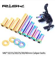 1pcs RISK M6 Titanium alloy Road Bike C Brake Calipers Bolts Nut Screws Durable