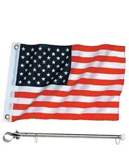 12 x 18 United States / American Rail Mount Flag Kit  - Flag and Pole