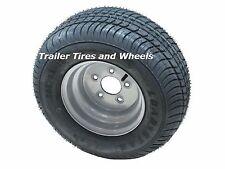 "*2* 205/65-10 LRE Bias Trailer Tires on 10"" 5 Lug Silver Wheels 20.5x8.0-10"