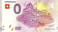 BILLET 0  EURO GORNERGRAT  SUISSE 2018 NUMERO 100