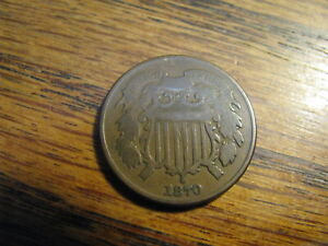 1870 Two Cent Piece  VG    Lot# R TFD