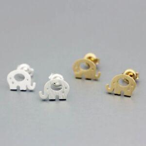 Elephant Earrings Elephant studs Silver studs Silver Earrings