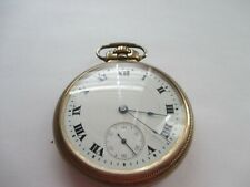 VINTAGE  WALTHAM WATCH CO. 10K GOLD FILLED  17 JEWELS POCKET WATCH - WORKS
