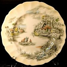 """Johnson Brothers Happy England Dinner Plate 10"""" Multicolor EXCELLENT"""