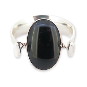 .Vintage Georg Jensen Torun Sterling Silver Black Onyx Dew Drop #203 Bracelet
