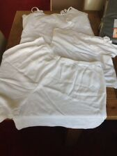 2 x white cami tops m&s new look size 20 22 + free shorts