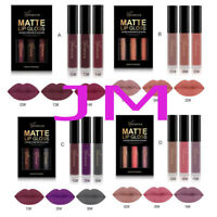 3Pcs/Set Waterproof Long Lasting Lip Liquid Matte Lipstick Beauty Lip Gloss