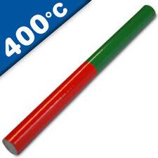 Stabmagnet Schulmagnet rund 150 x 10 mm, aus AlNiCo, rot-grün