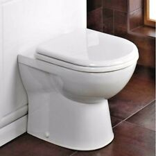 Short Projection Back To Wall Toilet Pan + Soft Close Seat - Space Saver WC