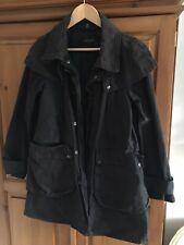 Ladies All Saints Spitalfields Wax Coat Size 12 Tartan Lined Black Country Style