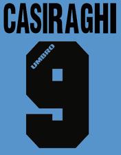 Lazio casiragi local Camiseta De Fútbol Número Letra H maglia Umbro de fútbol de calor