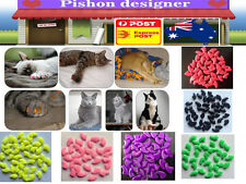 20pcs Soft Lovely Dog Cat Pet Nail Caps Claw Control Paws off Adhesive Glue