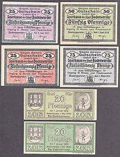 Bodenwerder -Stadt- 6 Verkehrsscheine aus den Jahren 1918 bis 1920