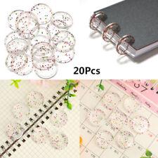 Scrapbook Clips Hinged Ringe Transparente Binding Disc Binder für lose Blätter